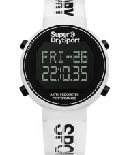 Superdry SYG203W Mens Digi Pedometer White Silicone Strap Watch