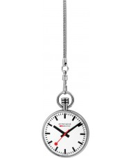 Mondaine A660-30316-11SBB Mens Specials Silver Pocket Watch with Chain