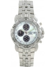 Krug Baümen 241269DM-MOP Mens Sportsmaster Diamond White Watch