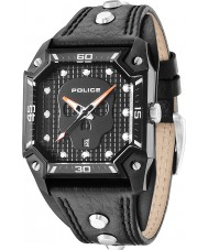 Police 13888JSB-02 Mens Wildcard Black Leather Strap Watch