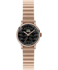 Orla Kiely OK4012 Ladies Frankie Matte Black Rose Gold Plated Watch
