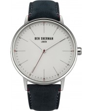 Ben Sherman WB009US Mens Portobello Touch Blue Leather Strap Watch