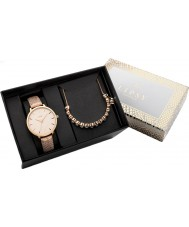 Lipsy LP449G Ladies Rose Gold Plated Watch and Bracelet Gift Set