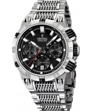 Festina F16774-4 Mens 2014 Chrono Bike Tour De France Black Silver Watch