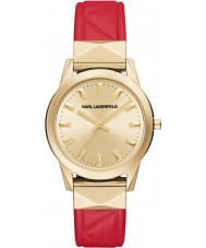 Karl Lagerfeld LaBelle Stud Gold Red Watch