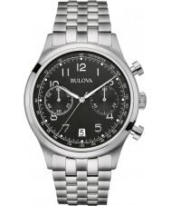 Bulova 96B234 Mens Vintage Silver Steel Bracelet Chronograph Watch
