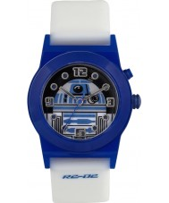 Star Wars RTD3206 Boys R2-D2 Flashing Watch with White Silicone Strap