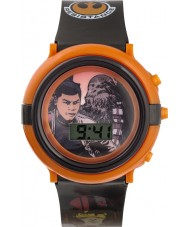 Star Wars SWM3006 Boys Chewbacca and Finn Flashing Watch with Black Plastic Band