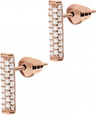 Emporio Armani EG3262221 Ladies Pure Pave Rose Gold Sterling Silver Earrings
