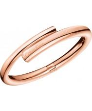 Calvin Klein KJ5GPD10010S Ladies Scent Rose Gold Plated Bangle - Size S