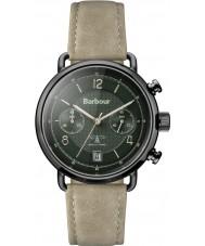 Barbour BB053GRKH Mens Salisbury Khaki Leather Strap Watch