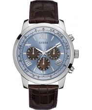 Guess W0380G6 Mens Horizon Brown Leather Chronograph Watch