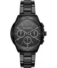 Karl Lagerfeld KL4016 Ladies Optik Black Steel Chronograph Watch