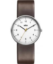 Braun BN0021WHBRG Mens White Brown Watch