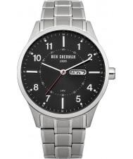 Ben Sherman WB002BM Mens Black and Steel Bracelet Watch