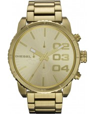Diesel DZ4268 Mens Double Down Gold Chronograph Watch