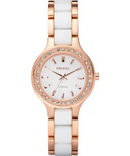 DKNY NY8141 Ladies Chambers Ceramic White Rose Gold Watch