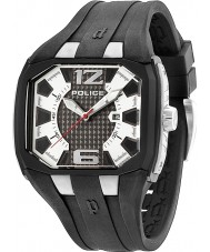 Police 13889JPBS-04 Mens Detonator Silver and Black Rubber Strap Watch