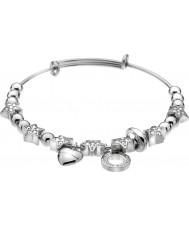 Emozioni DC143 Ladies Silver Plated Crystal Star Bangle