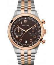 Bulova 98B248 Mens Vintage Two Tone Steel Bracelet Chronograph Watch