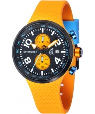 Spinnaker SP-5029-01 Mens Dynamic Orange Integrated Silicone Strap Watch