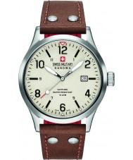Swiss Military 6-4280-04-002-05 Mens Undercover Brown Leather Strap Watch