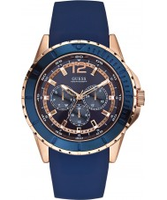 Guess W0485G1 Mens Maverick Blue Silicone Strap Watch