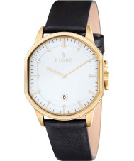 Fjord FJ-3009-04 Mens Stein 2 Hand Gold Black Slim Watch