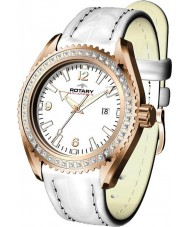 Rotary ALS00072-W-41 Ladies Aquaspeed Rose Gold White Sports Watch
