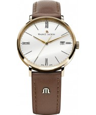 Maurice Lacroix EL1087-PVP01-110 Mens Eliros Rose Gold and Brown Leather Strap Watch