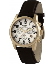 Rotary GS90200-18 Mens Les Originales Brown Chronograph Watch