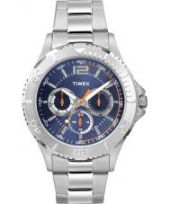 Timex TW2P87600 Mens Taft Street Silver Steel Bracelet Watch
