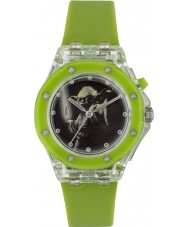 Star Wars YOD3702 Boys Yoda Flashing Watch with Green Silicone Strap