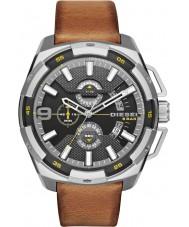 Diesel DZ4393 Mens Heavyweight Light Brown Leather Chronograph Watch