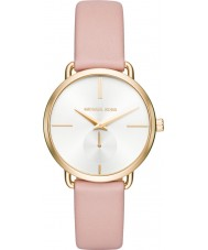 Michael Kors MK2659 Ladies Portia Pink Leather Strap Watch