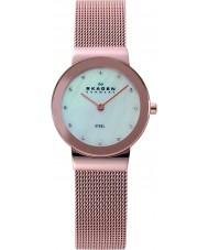 Skagen 358SRRD Ladies Klassik White Rose Gold Mesh Watch