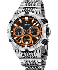 Festina F16774-6 Mens 2014 Chrono Bike Tour De France Orange Silver Watch