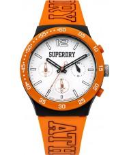 Superdry SYG205O Mens Urban Athletics Orange Silicone Strap Watch