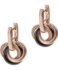 Emporio Armani EG3080221 Ladies Ceramica Interlock Tow Tone Sterling Silver Earrings