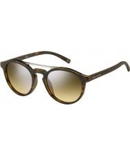 Marc Jacobs MARC 107-S N9P GG Matte Havana Silver Mirror Sunglasses