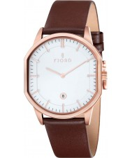 Fjord FJ-3009-05 Mens Stein 2 Hand Rose Gold Brown Slim Watch