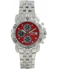 Krug Baümen 241269DM-R Mens Sportsmaster Red Diamond Chronograph Watch
