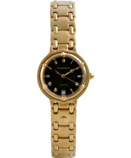 Krug Baümen 5118KL Ladies Charleston Black Gold Watch