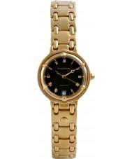 Krug-Baumen 5118KL Ladies Charleston Black Gold Watch