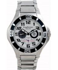 Krug-Baumen 140501KM Vanguard Silver Black Steel Watch