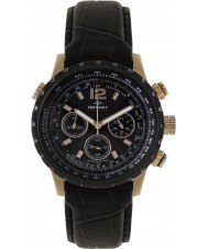 Rotary GSI00121-04 Mens Aquaspeed Pilot Chronograph Black Leather Strap Watch