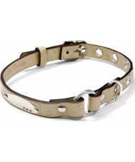 I Puppies PCY-006 Beige Leather Dog Collar