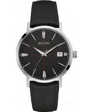 Bulova 96B243 Mens Aerojet Black Leather Strap Watch
