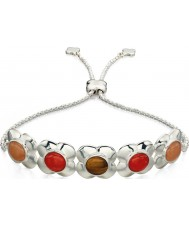 Orla Kiely B4851 Ladies Sterling Silver Flower Toggle Bracelet