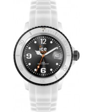 Ice-Watch SI.WK.U.S.12 Ice-White Black Silicon Strap Watch